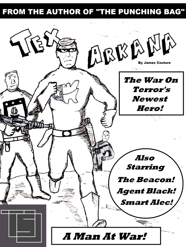 Cover art for Tex Arkana, the next in my series of superhero novellas