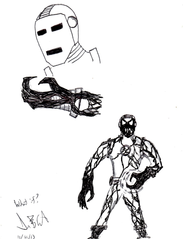 A picture of Iron Man/Venom